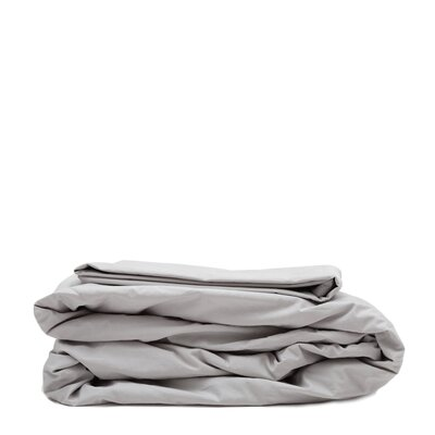 300 Thread Count Cotton Percale Sheet Set Size: Queen, Color: Light Gray
