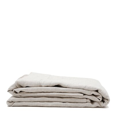 Linen Flat Sheet Size: King, Color: Natural