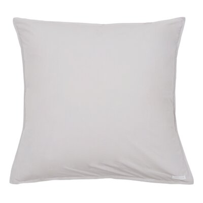 Cotton Percale Euro Sham Color: Light Gray