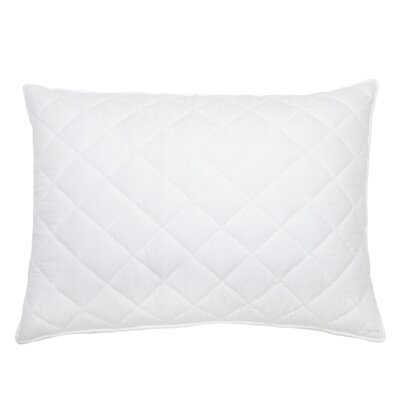 Percale Cotton Lumbar Pillow Color: White