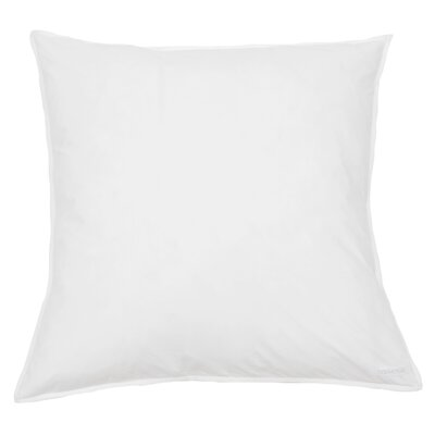 Cotton Percale Euro Sham Color: White