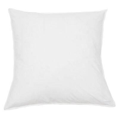Cotton Percale Euro Sham Color: White