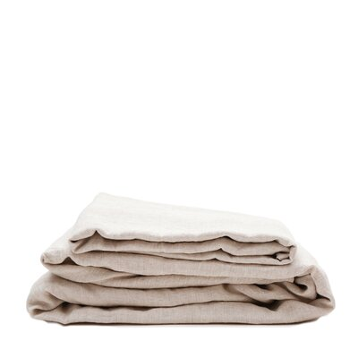 Linen Sheet Set Size: King, Color: Natural