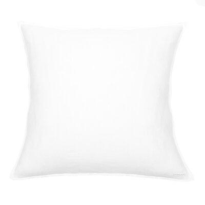 Linen Euro Sham Color: White