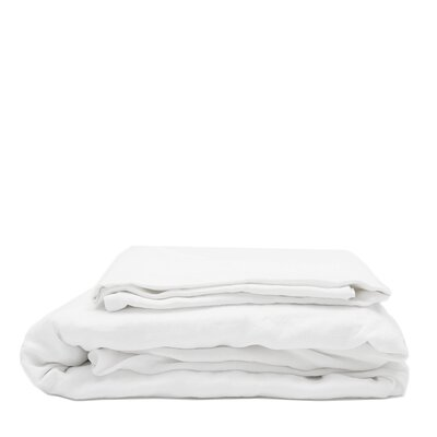 Linen Sheet Set Size: King, Color: White