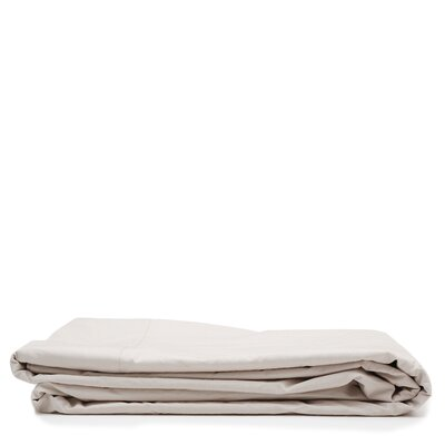 300 Thread Count Cotton Percale Flat Sheet Size: Queen, Color: Taupe