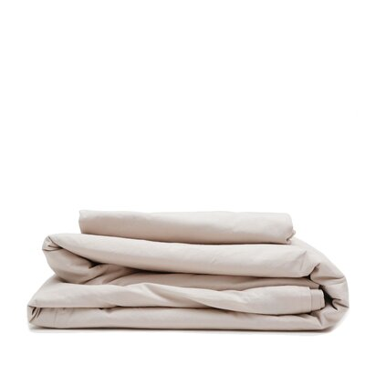 300 Thread Count Cotton Percale Sheet Set Size: King, Color: Taupe