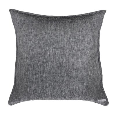 Linen Euro Sham Color: Heather Charcoal