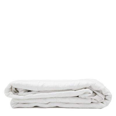 Linen Flat Sheet Size: Queen, Color: White