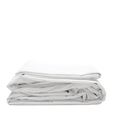 300 Thread Count Cotton Percale Sheet Set Color: White, Size: California King