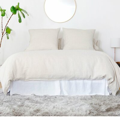 Linen 3 Piece Duvet Set Size: Queen, Color: Natural