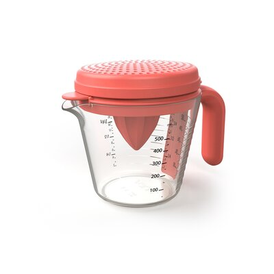 4 Piece Measuring Cup Set Color: Red VNMJUGSETRED