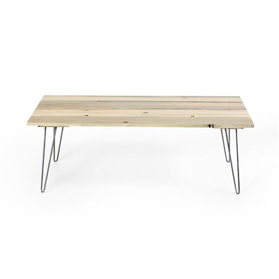 Slat Coffee Table Base Finish: Raw Steel