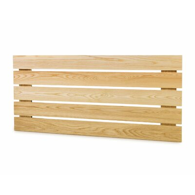 Slat Headboard Size: California King, Color: Natural