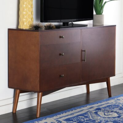 Nicolas 52 Mid-Century TV Stand Color: Walnut