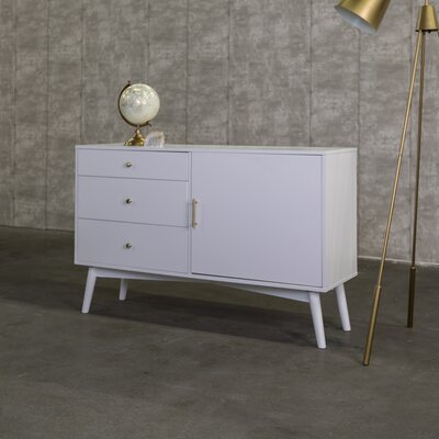 Nicolas 52 Mid-Century TV Stand Color: White