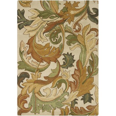 Tisha Ivory Area Rug Rug Size: Rectangle 5 x 7