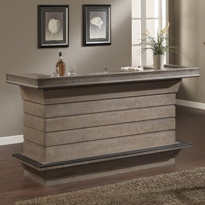 Adamsburg Bar with Wine Storage Finish: Glacier