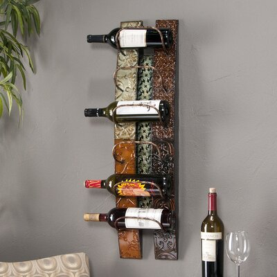 Zendaya 6 Bottle Wall Mounted Wine Rack