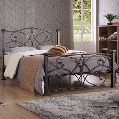 Dia Platform Bed Size: Full, Color: Black / Silver