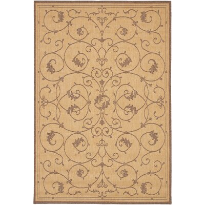 Charlene Beige/Brown Area Rug Rug Size: Rectangle 39 x 55