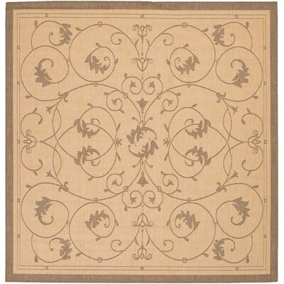 Charlene Beige/Brown Area Rug Rug Size: Square 86
