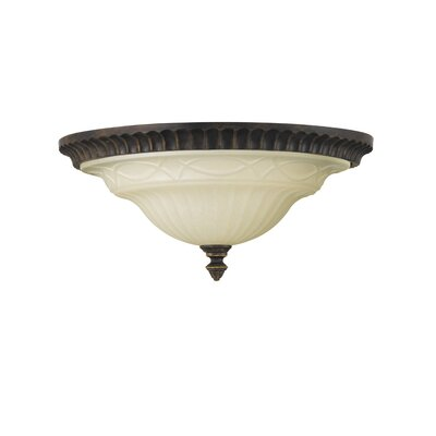 Linda 2-Light Flush Mount Size: 6 H x 13 Dia.