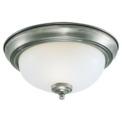 Barbara 3-Light Flush Mount Color: Brushed Nickel