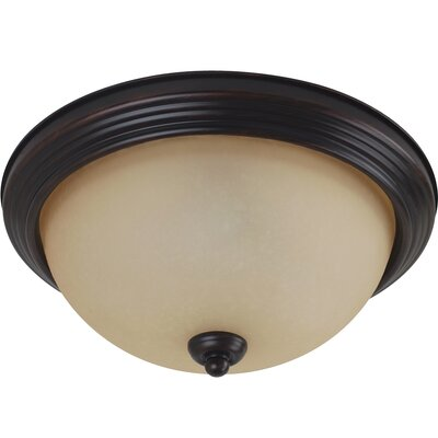 Barbara 3-Light Flush Mount Color: Burnt Sienna
