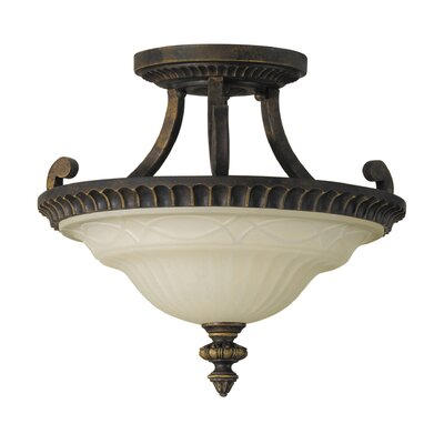Linda 2-Light Semi Flush Mount Size: Small