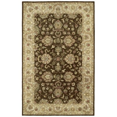 Mary Brown Floral Area Rug Rug Size: 10 x 14