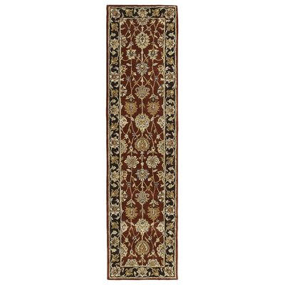 Mary Burgundy Floral Area Rug Rug Size: Runner 26 x 10