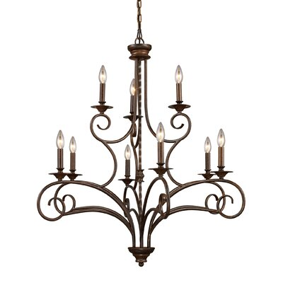 Brenda 9-Light Candle-Style Chandelier
