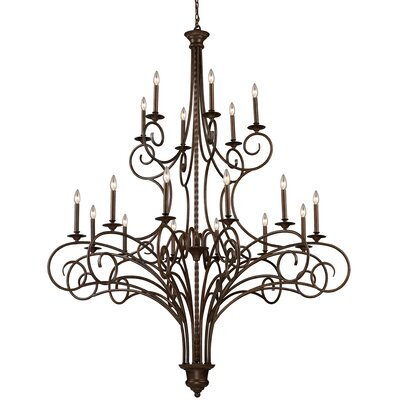 Brenda 18-Light Candle-Style Chandelier
