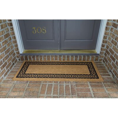 Frances Charleston Border Double Door Doormat Size: 24 W x 60 L