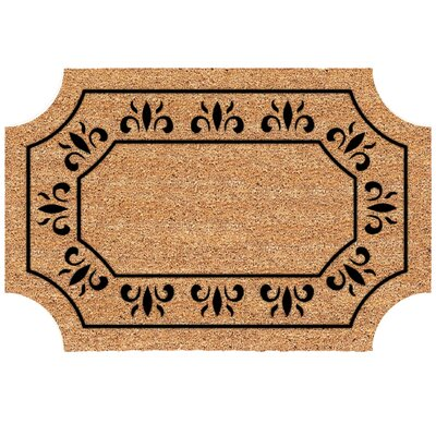 Frances Scalloped Fleur De Lys Doormat