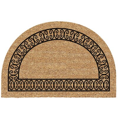 Frances Half Round Charleston Border Doormat