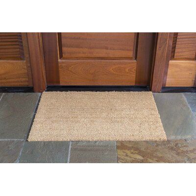 Frances Solid Doormat Mat Size: Rectangle 24 x 36