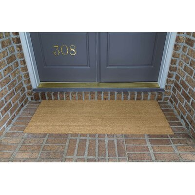 Frances Solid  Double Door Doormat Mat Size: Rectangle 60 x 24