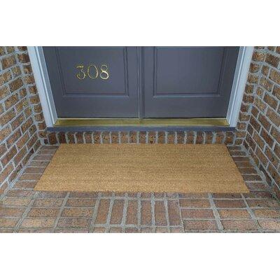 Frances Solid  Double Door Doormat Size: 60 L x 24 W