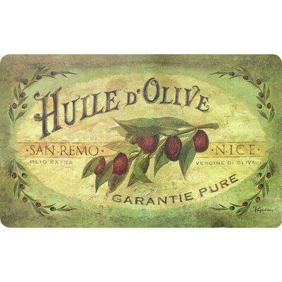 Ann Vintage Olive Oil Kitchen Mat
