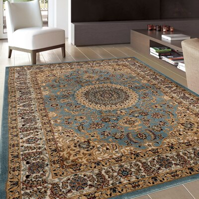 Heather Blue Area Rug Rug Size: 53 x 73