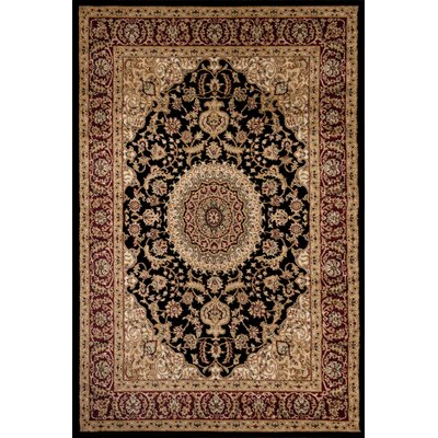 Heather Black Area Rug Rug Size: 53 x 73