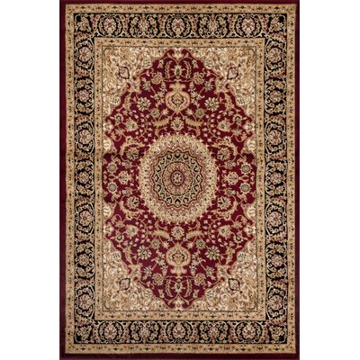 Heather Burgundy Area Rug Rug Size: 53 x 73
