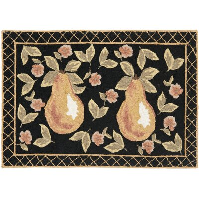 Brayton Black Novelty Rug Rug Size: Runner 2'6