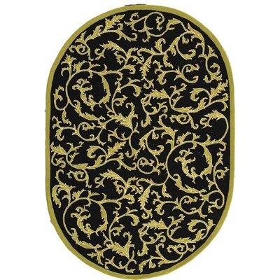 Brayton Floral Rug Rug Size: Oval 46 x 66