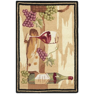 Brayton Ivory Wine Cellar Novelty Area Rug Rug Size: 53 x 83