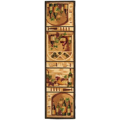Brayton Ivory Wine Cellar Novelty Area Rug Rug Size: Runner 26 x 8