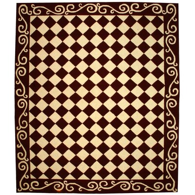 Brayton Red/Ivory Area Rug Rug Size: Rectangle 89 x 119