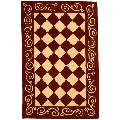 Brayton Red/Ivory Area Rug Rug Size: Rectangle 26 x 4